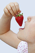 Snacking Posters - Strawberry Poster by Joana Kruse