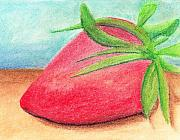 Strawberry Pastels Prints - Strawberry Print by Jose Valeriano