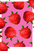 Strawberries Digital Art - Strawberry  by Louisa Houchen