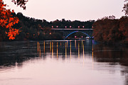 Strawberry Digital Art Prints - Strawberry Mansion Bridge at Dusk Print by Bill Cannon