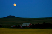 Montana Landscape Art Posters - Strawberry Moon Poster by Joseph Noonan