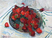 Strawberry Originals - Strawberry on white by Juliya Zhukova