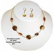 Food And Beverage Jewelry Originals - Strawberry Quartz  by Pini Byma