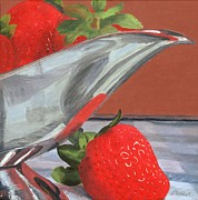 Silver Pitcher Posters - Strawberry Season Poster by Lynne Reichhart