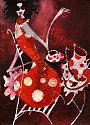 Relax Paintings - Strawberry shake by Maya Manolova