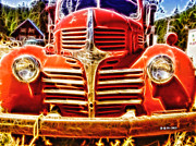 Strawberry Digital Art Prints - Strawberry Truck Print by Mo T