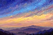 Blue Ridge Parkway Paintings - Streaking Sky over Cold Mountain by Jeff Pittman