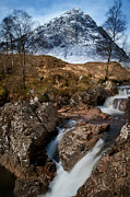 Mountains Digital Art - Stream at Beauchaille by Keith Thorburn