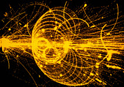 Microscopic Photos Prints - Streamer Chamber Photo Of Particle Tracks Print by Cern
