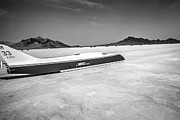 White Images Posters - Streamliner Bonneville 2012 Poster by Holly Martin