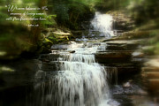 Scripture Photo Posters - Streams of Living Water Poster by Debra Straub
