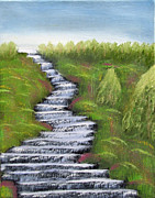 Prophetic Art Painting Originals - Streams of Living Water by Kristen Pagliaro