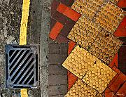 Grate Photo Metal Prints - Street Abstract Metal Print by Joe Bonita