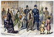 Crowd Scene Art - Street Arrest, 1878 by Granger