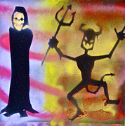 Dracula Paintings - Street Art Goblin and Devil by Tony B Conscious