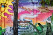 Mural Photos - Street Art Kerbery Lane Cafe 1 by Linda Phelps