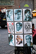 Caricature Mixed Media - Street Art NYC by Edward Sobuta