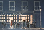 Seville Painting Prints - Street bar Print by Alan Pearson