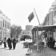 Hookah Prints - Street cafe in Doha souq Print by Paul Cowan