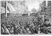Unrest Photo Framed Prints - Street Car Strike, 1886 Framed Print by Granger