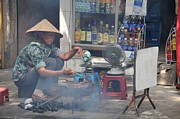 Far East Prints - Street chef Print by Marion Galt