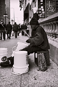 Drummer Photos - Street Drummer by Peter Chilelli