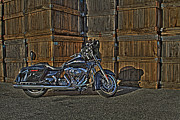 Harley Davidson Photo Originals - Street Glide Crated by Bennie McLendon