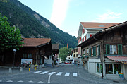 Street In Interlaken In Switzerland Print by Ashish Agarwal
