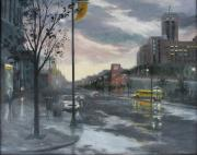 Sears Paintings - Street Lake by Holly Stone