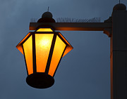 Night Lamp Prints - Street Lamp at Night Print by David Buffington