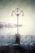 Ghostly Metal Prints - Street Lamp Metal Print by Joana Kruse