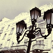 Old Mills Photos - Street lamps of Budapest Hungary by Marianna Mills