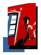 Xoanxo Cespon Framed Prints - Street light collage Framed Print by Xoanxo Cespon