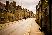 Residential Structure Prints - Street Lined With Houses Print by Glenn Beanland