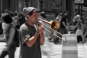 Selective Colouring Prints - Street Music Print by Graham Ettridge