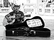 Gallery Print Prints - Street Musician and Dog Print by Julie Niemela