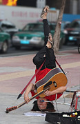 Street Musician Guangzhou China Print by Joy Neasley
