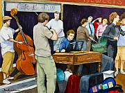 Musicians Painting Originals - Street Musicians in Dublin by Brenda Williams