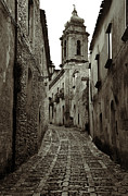 Platinum Prints - Street of Erice Print by RicardMN Photography