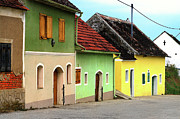 Street Of Wine Cellar Houses  Print by Mariola Bitner