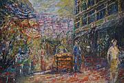 Bazaar Paintings - Street Peddler - KL Chinatown by Wendy  Chua