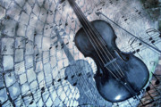 Violin Digital Art - Street Performance in Blue by Jean Moore