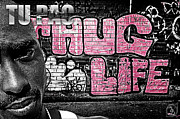 Rap Mixed Media - Street Phenomenon 2Pac by The DigArtisT
