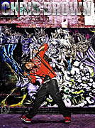 Break Dance Prints - Street Phenomenon Chris Brown Print by The DigArtisT