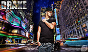 """photo-manipulation"" Mixed Media Posters - Street Phenomenon Drake Poster by The DigArtisT"