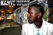 Jay Z Posters - Street Phenomenon Kanye West Poster by The DigArtisT