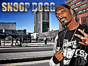 Harlem Mixed Media Acrylic Prints - Street Phenomenon Snoop Dogg Acrylic Print by The DigArtisT