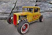 Red Street Rod Framed Prints - Street Rod Framed Print by Debra and Dave Vanderlaan