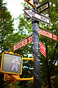 Road Signal Prints - Street Signs In Nyc Print by Thomas Northcut