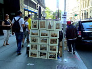 Pictures Photo Originals - Street Vendor in Downtown NY - 2 by Padamvir Singh